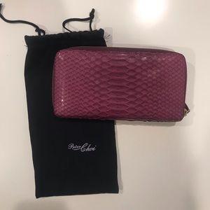 Handbags - Genuine Snakeskin Zip Around Wallet